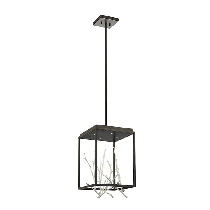 Eurofase 4LT Square LED Chandelier, BlackSilver - 38637-025