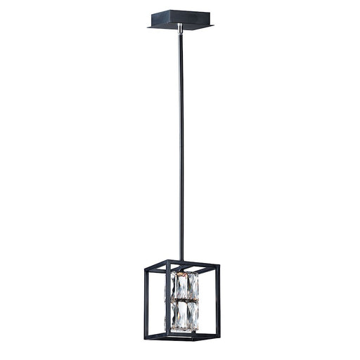 "ET2 Lighting Zephyr LED 1-Light 8"" Pendant, Black"