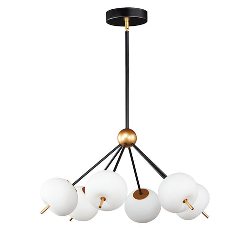 ET2 Lighting Quest LED Pendant, Black/Gold