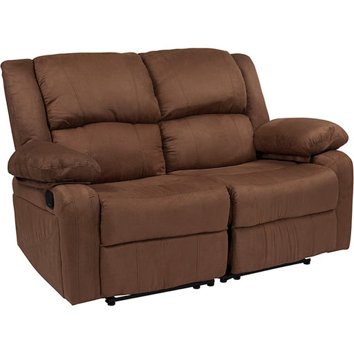 Flash Furniture Harmony Brown MF Loveseat, 2 Recliners