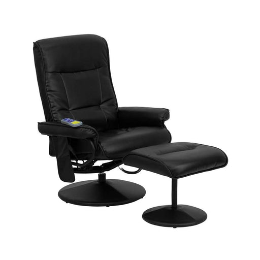 Flash Furniture Recliners & Ottoman I, Black