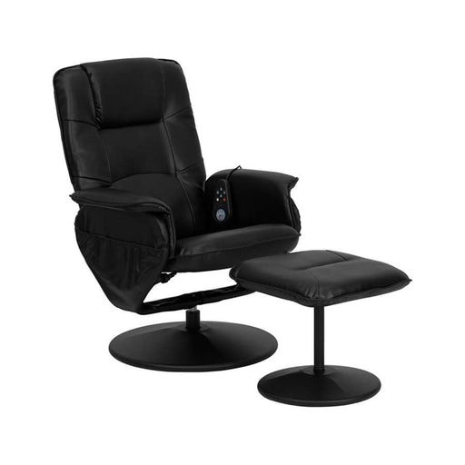 Flash Furniture Recliners & Ottoman II, Black