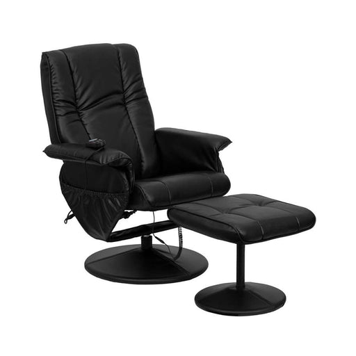 Flash Furniture Recliners & Ottoman III, Black
