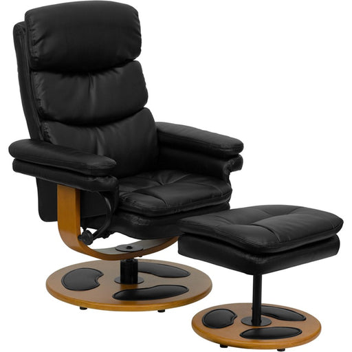Flash Furniture Black Bonded Leather Recliner, Black