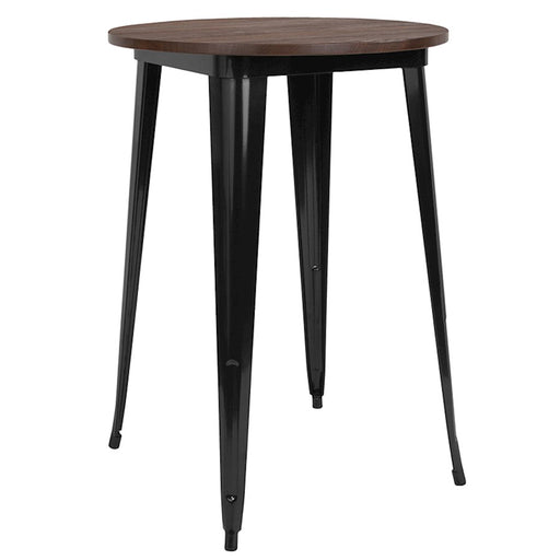 "Flash Furniture 30"" Round Bar Height Table, Walnut"