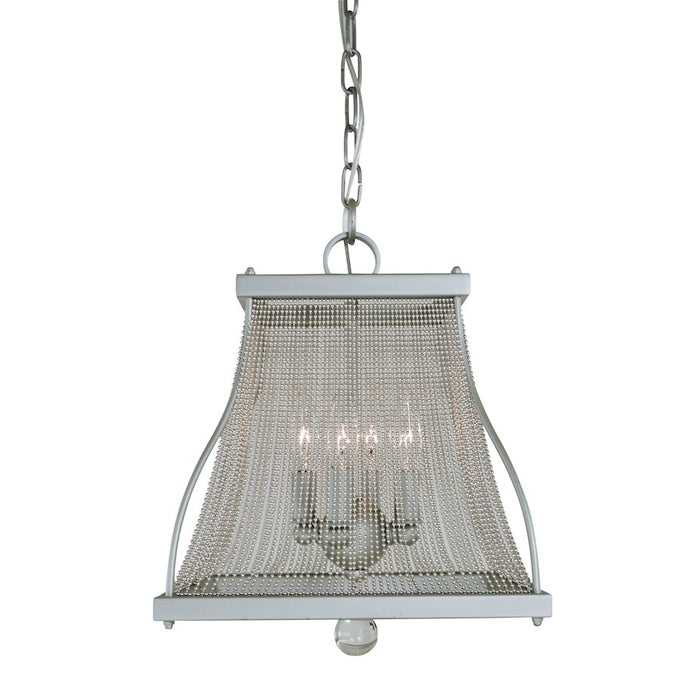 Framburg Harrison 4 Light Mini Chandelier, Satin Pewter/Nickel - 5504SP-PN