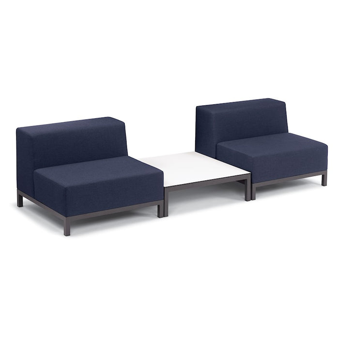 Oxford Garden Koral 3-Piece Modular, Carbon/Spectrum Indigo, No Cushion - 6088