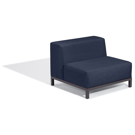 Oxford Garden Koral Modular Side Chair Seat, Carbon/Spectrum Indigo - KLCSSI