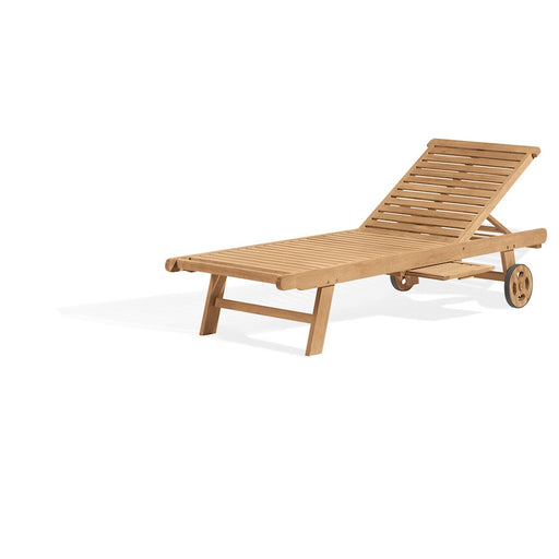 Oxford Garden Chaise Lounge in Natural - L70K