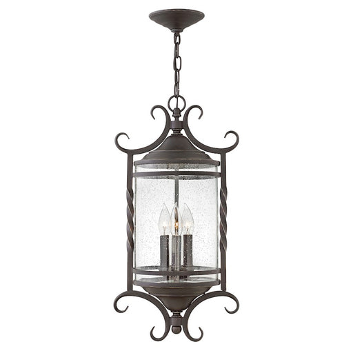 Hinkley Lighting Outdoor Casa Hanging Lantern, Olde Black