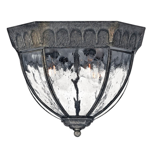 Hinkley Lighting Regal 4 Light Outdoor Flush Mount, Black Granite