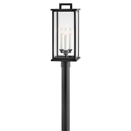 Hinkley Lighting Weymouth 3 Light Outdoor Post Mount, Black - 20011BK
