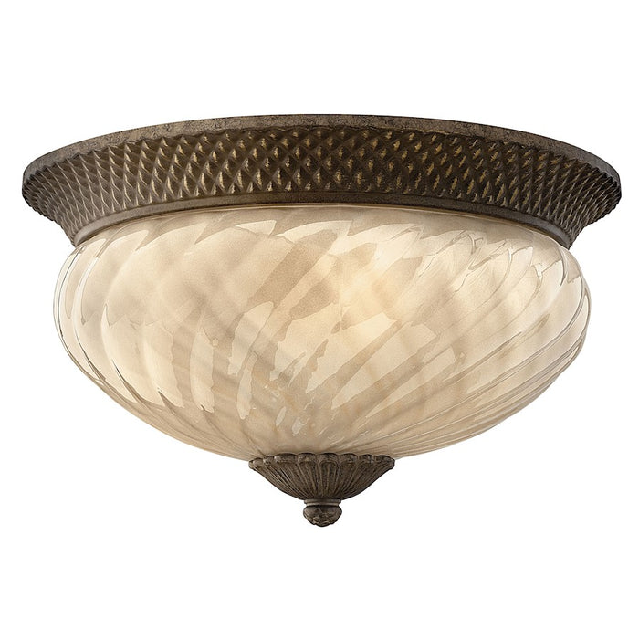 Hinkley Lighting Plantation Outdoor Flush Mount, Pearl Bronze