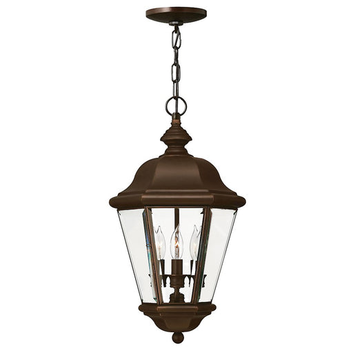 Hinkley Lighting Clifton Park 3 Light Outdoor Hanging, Copper Bronze