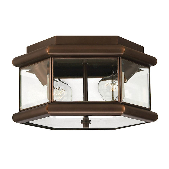 Hinkley Lighting Clifton Park 2 Lt Outdoor Flush Mount, Copper Bronze
