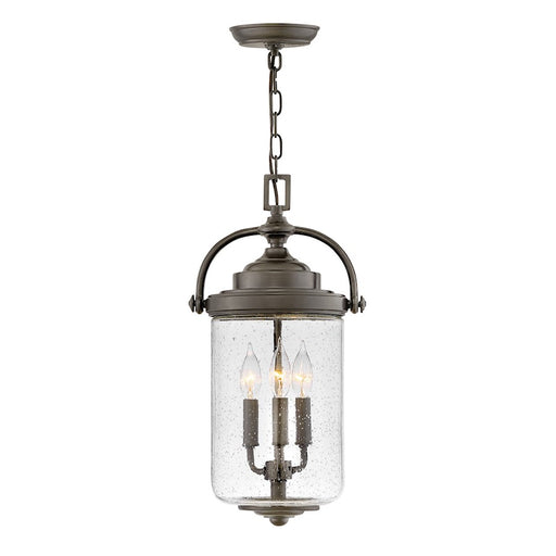 Hinkley Lighting 3 Light Willoughby Outdoor Hanging, Oil Rubbed Bronze