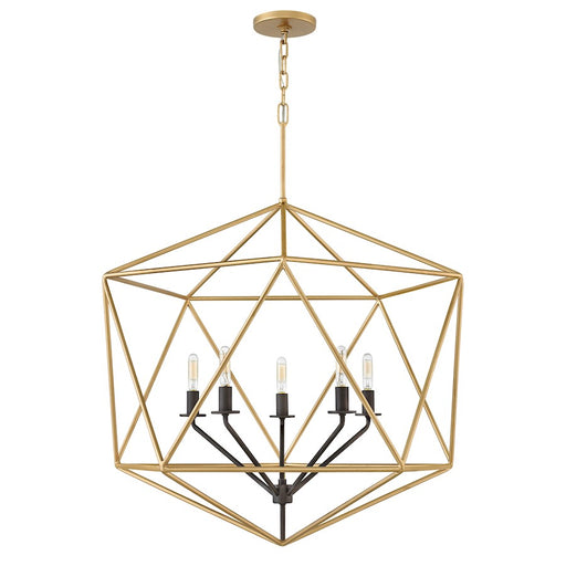Hinkley 6 Light Astrid Single Tier Chandelier, Deluxe Gold