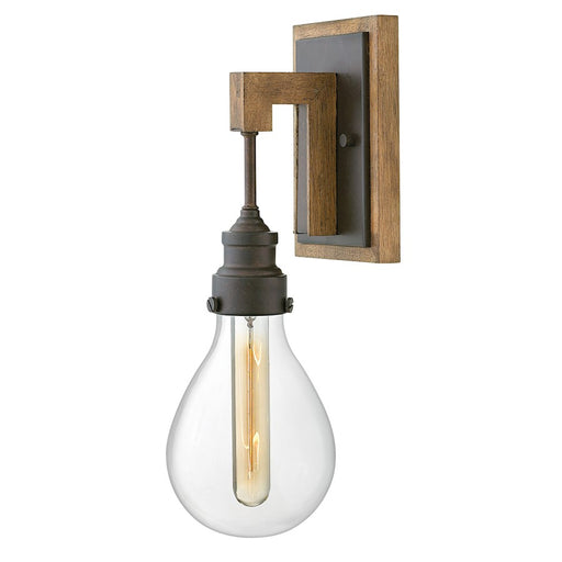 Hinkley 1 Light Denton Sconce, Industrial Iron