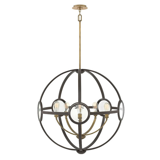 Hinkley 5 Light Fulham Single Tier Chandelier, Buckeye Bronze