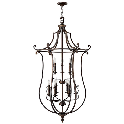 Hinkley Lighting Plymouth 9 Light Chandelier 2 Tier, Olde Bronze