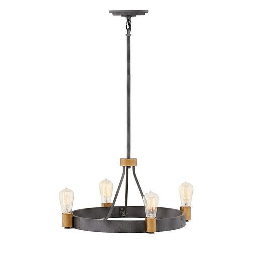 Hinkley Lighting Silas Chandelier, Aged Zinc