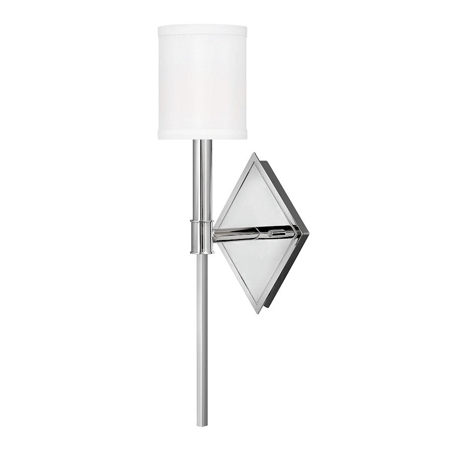 Hinkley Lighting 1 Light Buchanan Wall Mount, Polished Nickel