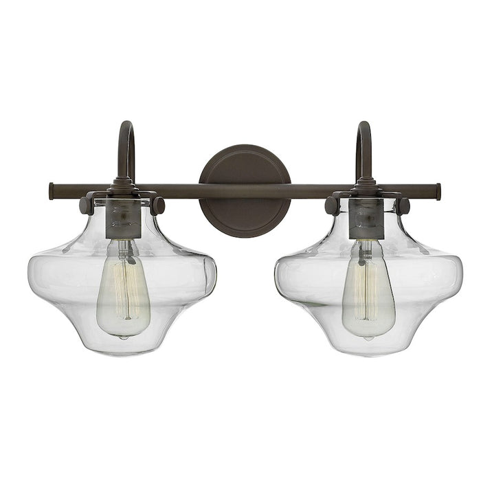 Hinkley Congress Bath Vanity Light with Clear Glass