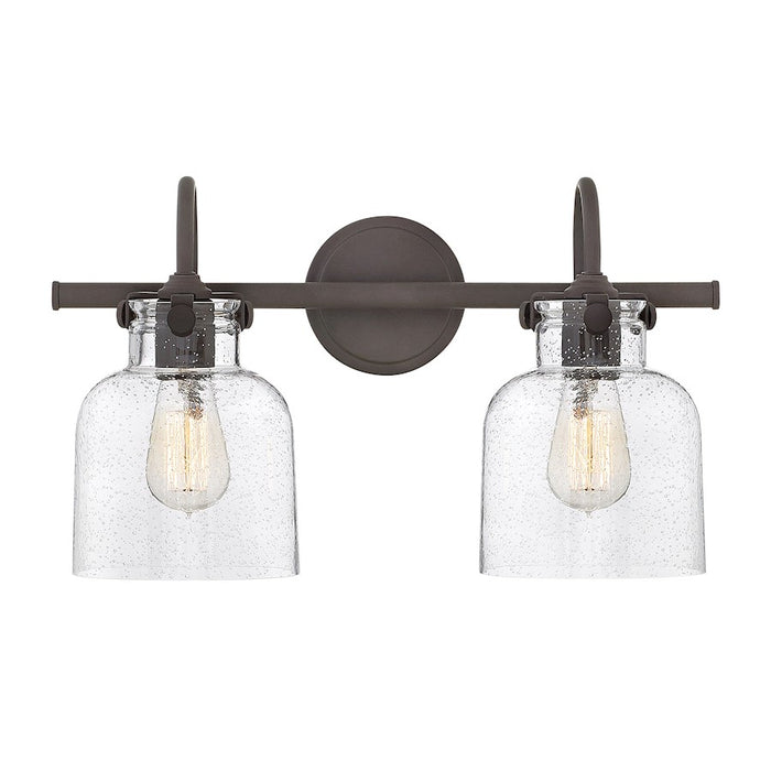 Hinkley Congress Bath Vanity Light with Clear Seeded Glass