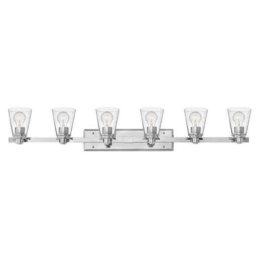 Hinkley 6 Light Avon Bath Light, Chrome