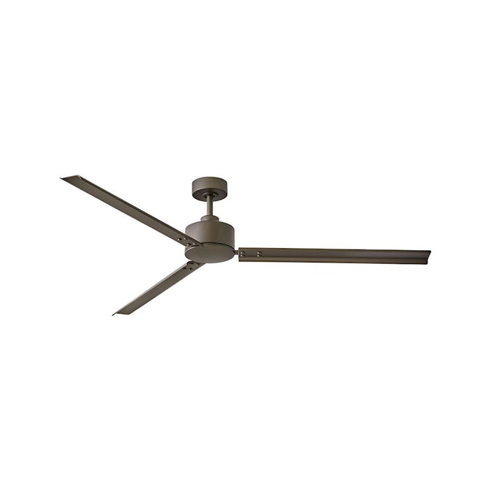 "Hinkley Lighting Indy 72"" Fan, Metallic Bronze, Wall Control - 900972FMM-NWA"