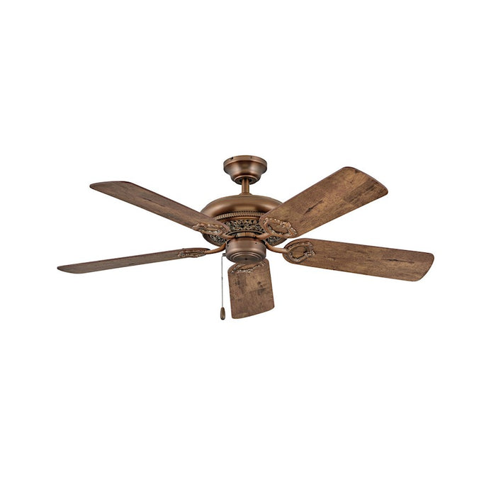 "Hinkley Lighting Lafayette 52"" Fan, Antique Copper, Pull Chain - 901152FAC-NID"