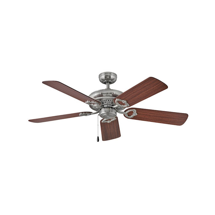 "Hinkley Lighting Lafayette 52"" Fan, Brushed Nickel, Pull Chain - 901152FBN-NID"