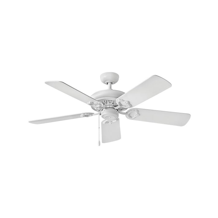 "Hinkley Lighting Lafayette 52"" Fan, Chalk White, Pull Chain - 901152FCW-NID"