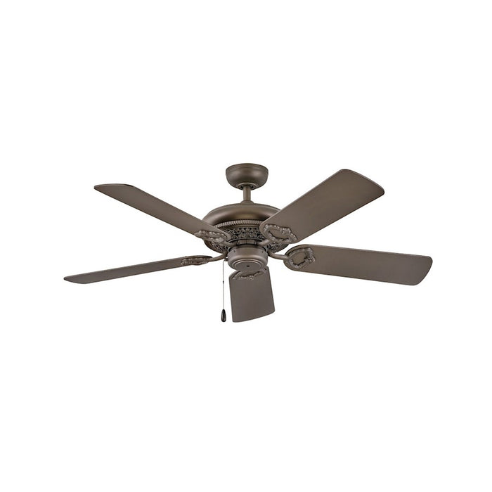 "Hinkley Lighting Lafayette 52"" Fan, Metallic Bronze, Pull Chain - 901152FMM-NID"
