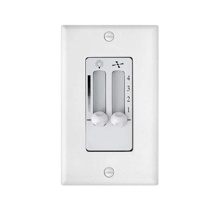 Hinkley Lighting Wall Contol 4 Speed Dual Slide, White - 980008FWH