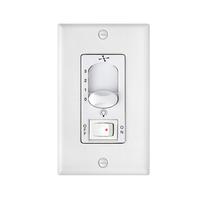 Hinkley Lighting Wall Control 3 Speed, On/Off Switch, White - 980009FWH