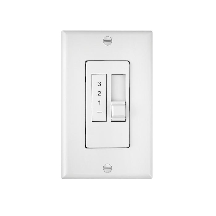 Hinkley Lighting Wall Control 3 Speed 5 Amp, White - 980012FWH