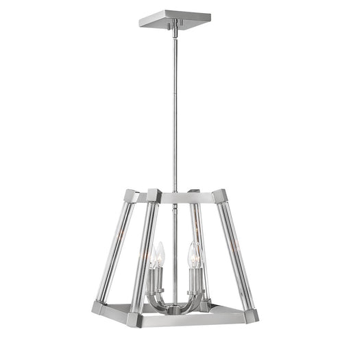 Fredrick Ramond 4 Light Empire Stem Hung Pendant, Polished Nickel