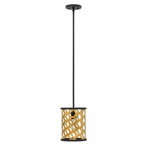 Fredrick Ramond Felix 1 Light Pendant, Sunset Gold