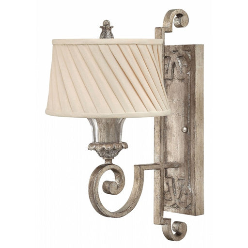 Fredrick Ramond Kingsley 1 Light Sconce, Silver Leaf