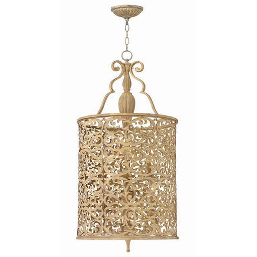 Fredrick Ramond Carabel 6 Light Foyer 1 Tier, Brushed Champagne