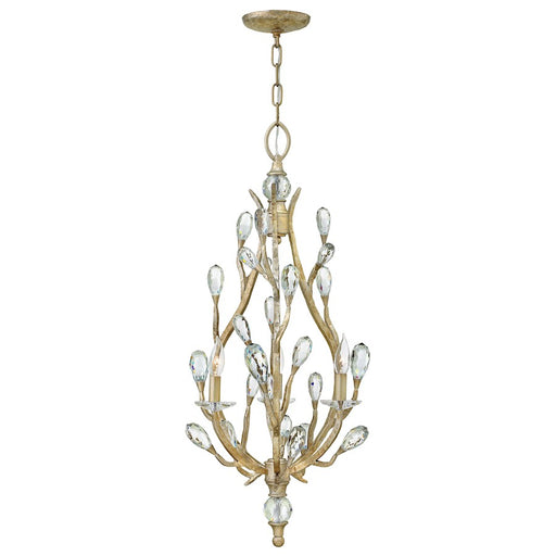 Fredrick Ramond Eve 3 Light Chandelier Foyer, Champagne Gold