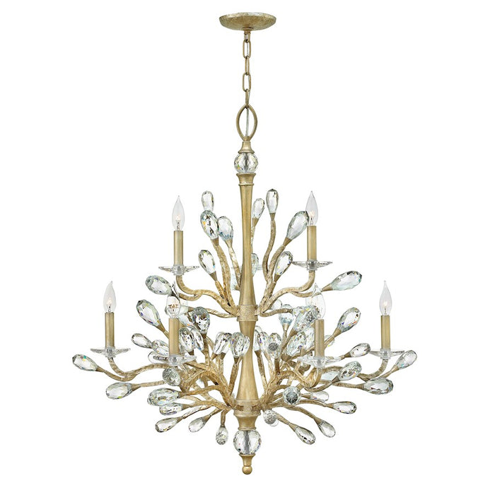 Fredrick Ramond Eve 9 Light Chandelier 2 Tier, Champagne Gold