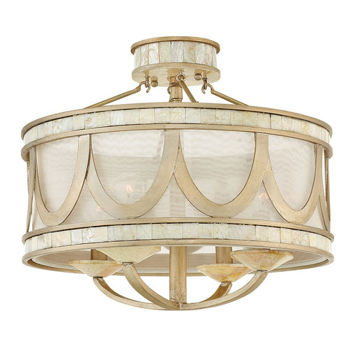 Fredrick Ramond 4 Light Sirena Semi Flush Mount, Champagne Gold