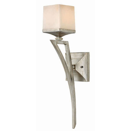 Fredrick Ramond San Simeon 1 Light Bath Sconce, Silver Leaf