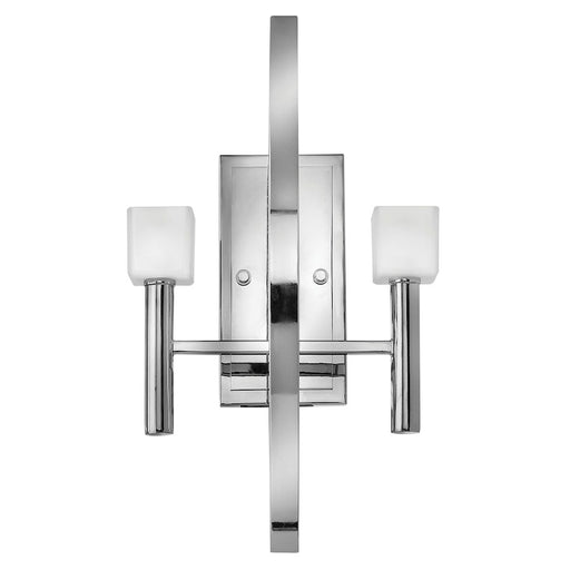 Fredrick Ramond Mondo 2 Light Sconce, Polished Chrome