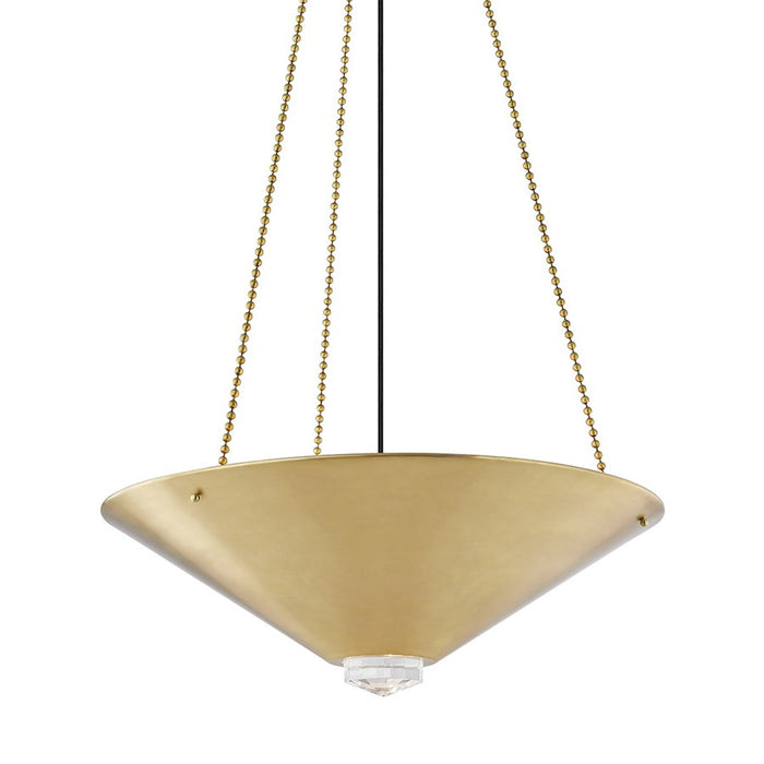 Hudson Valley Heron 4 Light Pendant, Aged Brass - 2026-AGB