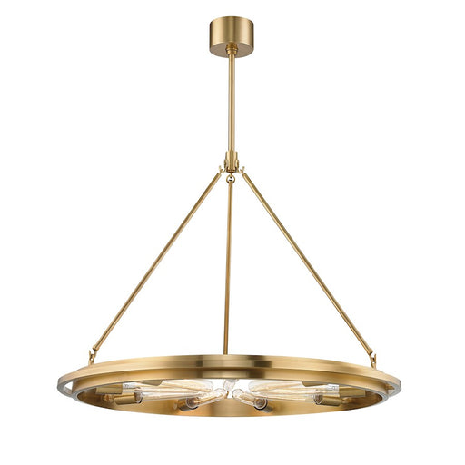 Hudson Valley Chambers 9 Light Pendant in Aged Brass - 2732-AGB