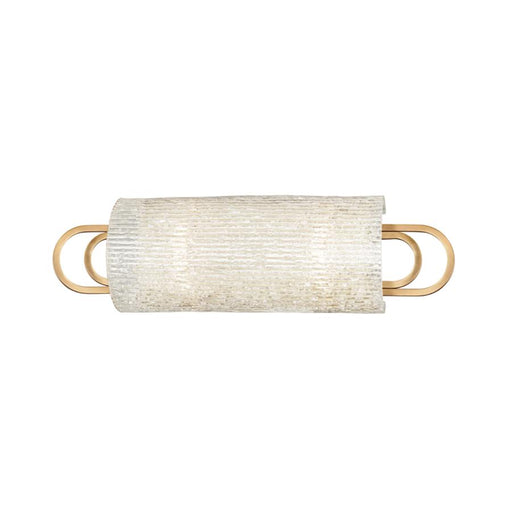 Hudson Valley Buckley 2 Light Bath Bracket, Aged Brass