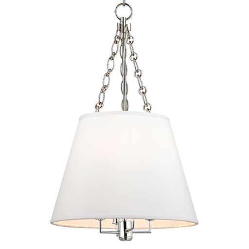 Hudson Valley Burdett 4 Light Pendant, Polished Nickel
